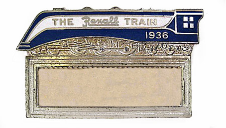 1936 Rexall Train Badge