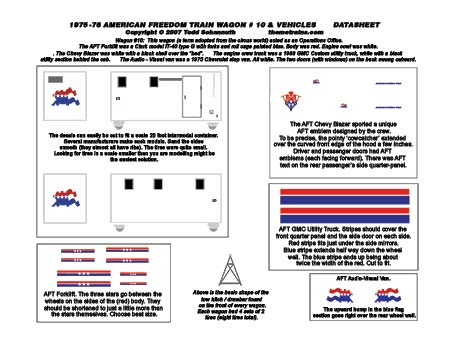 American Freedom Train Vehicle Decals by Accuen